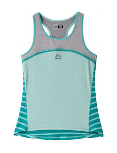 RBX Heather Gray & Mint Jersey Tank Top – Girls 7-16