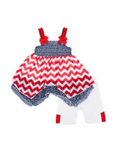 Little Lass 2-pc. Americana Bike Shorts Set - Baby 12-24 Mos.
