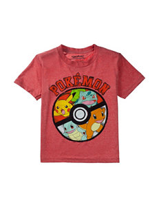 Pokemon Red Heather Pokeball Screen T-shirt – Boys 4-7