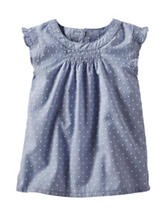 Oshkosh B'Gosh® Chambray Swiss Dot Top - Toddler Girl's