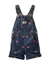 OshKosh B'gosh® Butterfly Denim Shortalls – Toddler Girls