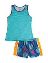Wishful Park 2-pc. Solid Color Blue Top &  Shorts Set – Toddlers & Girls 4-6x
