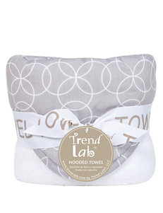 Trend Lab Grey / White Hooded Towels