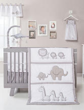 Trend Lab 3-pc. Paloma Gray & White Safari Chevron Crib Bedding Set