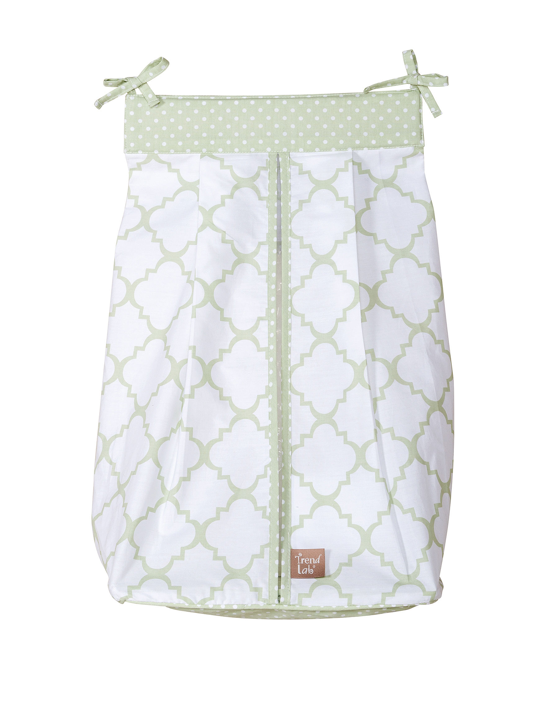 Trend Lab Green / White Diaper Bags
