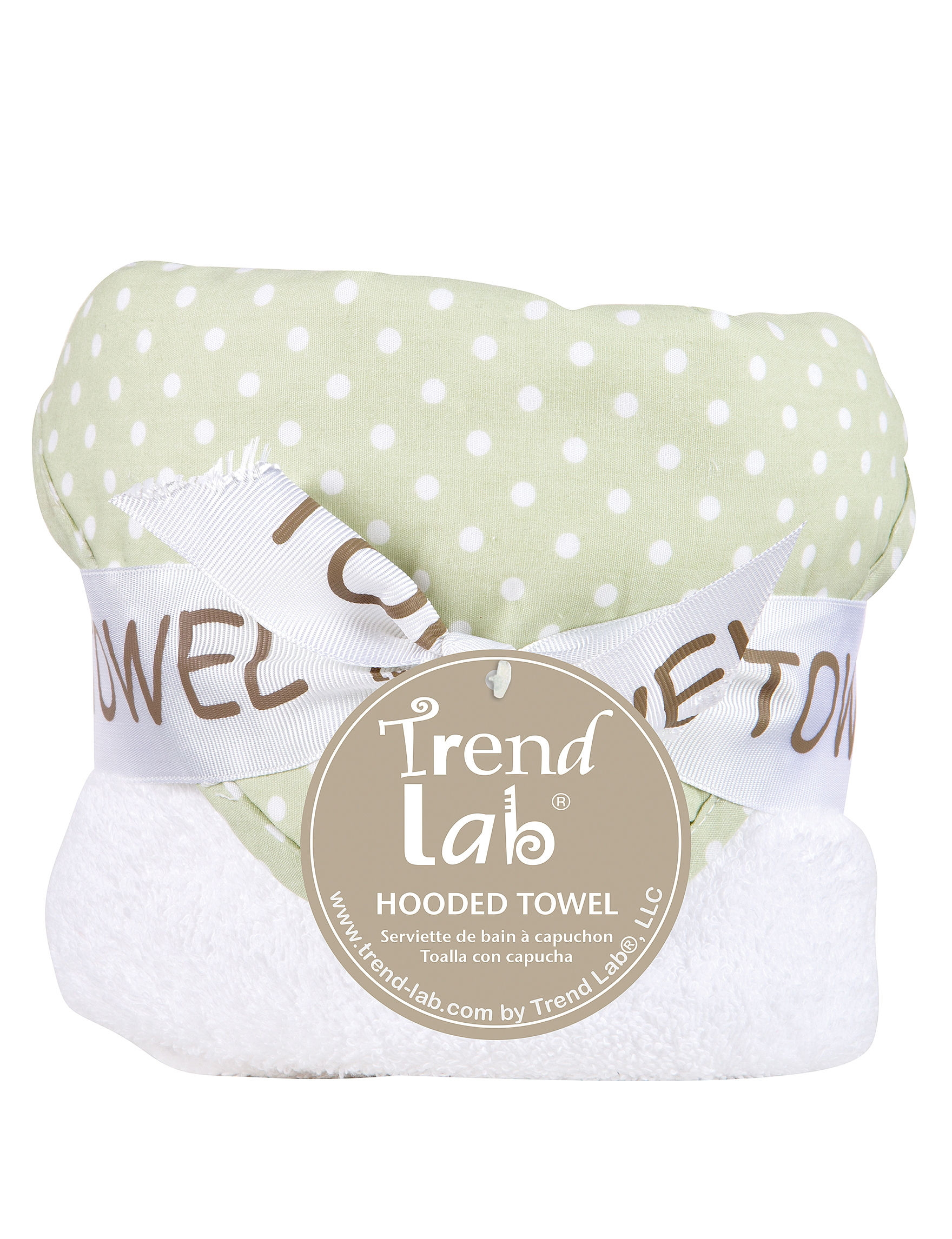 Trend Lab Green / White Hooded Towels