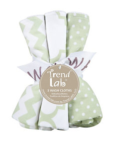 Trend Lab Green / White Towels