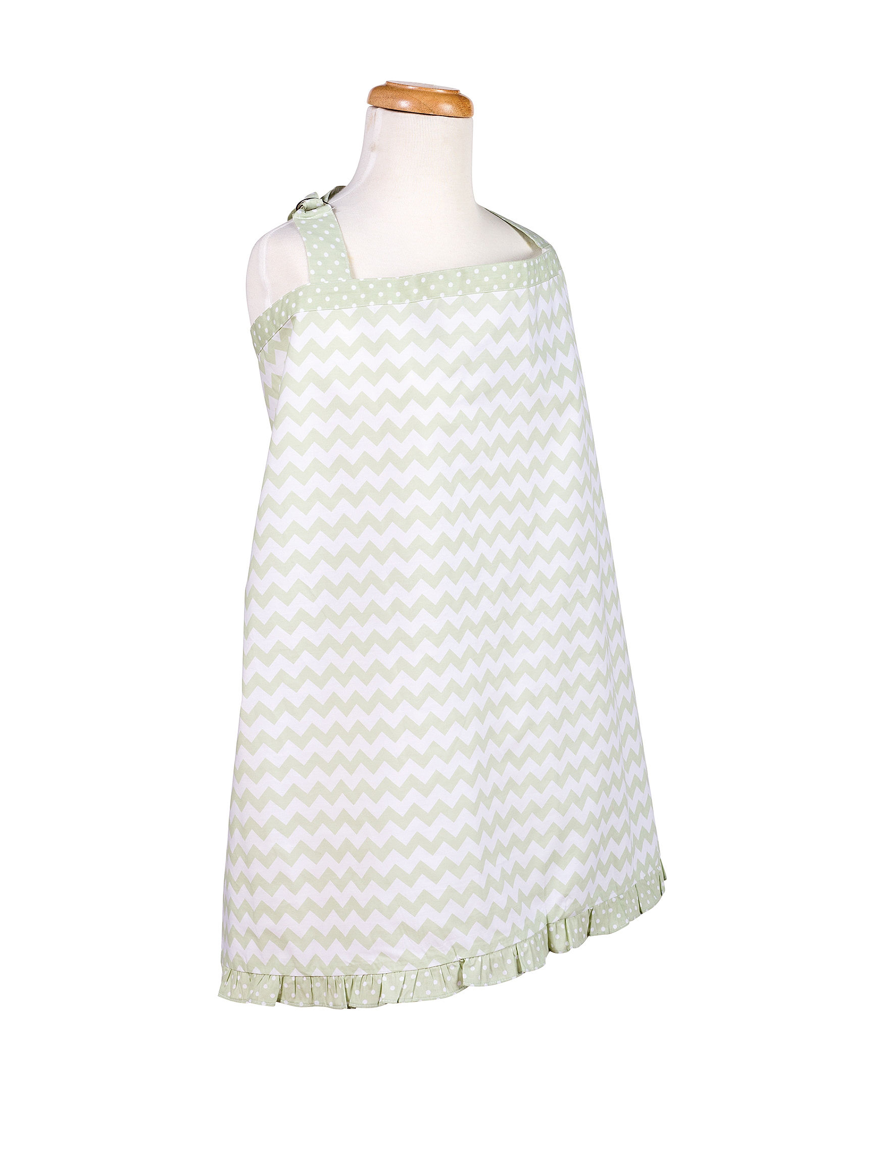 Trend Lab Green / White Breastfeeding