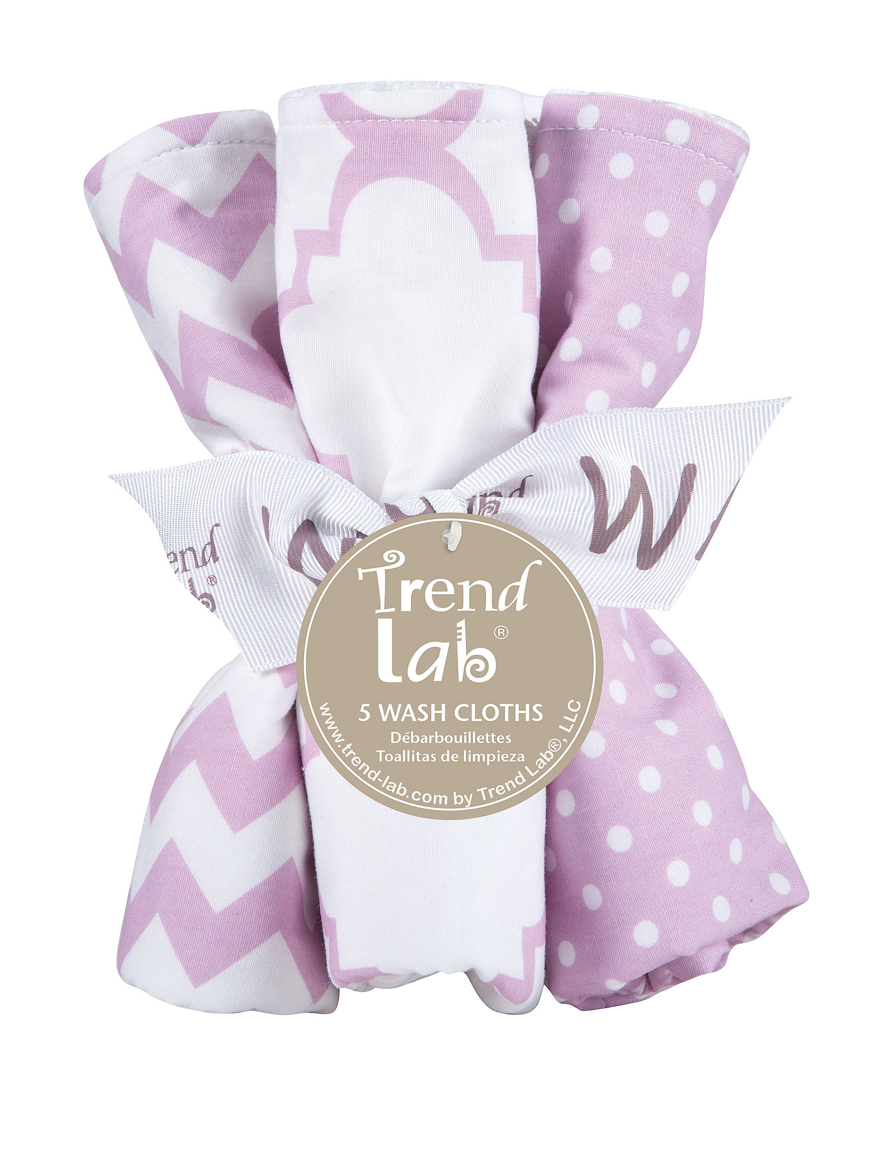 Trend Lab Purple / White Towels