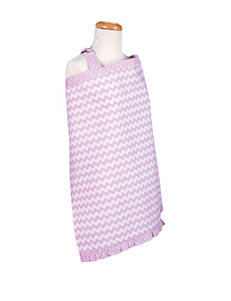 Trend Lab Orchid Bloom Chevron Nursing Cover