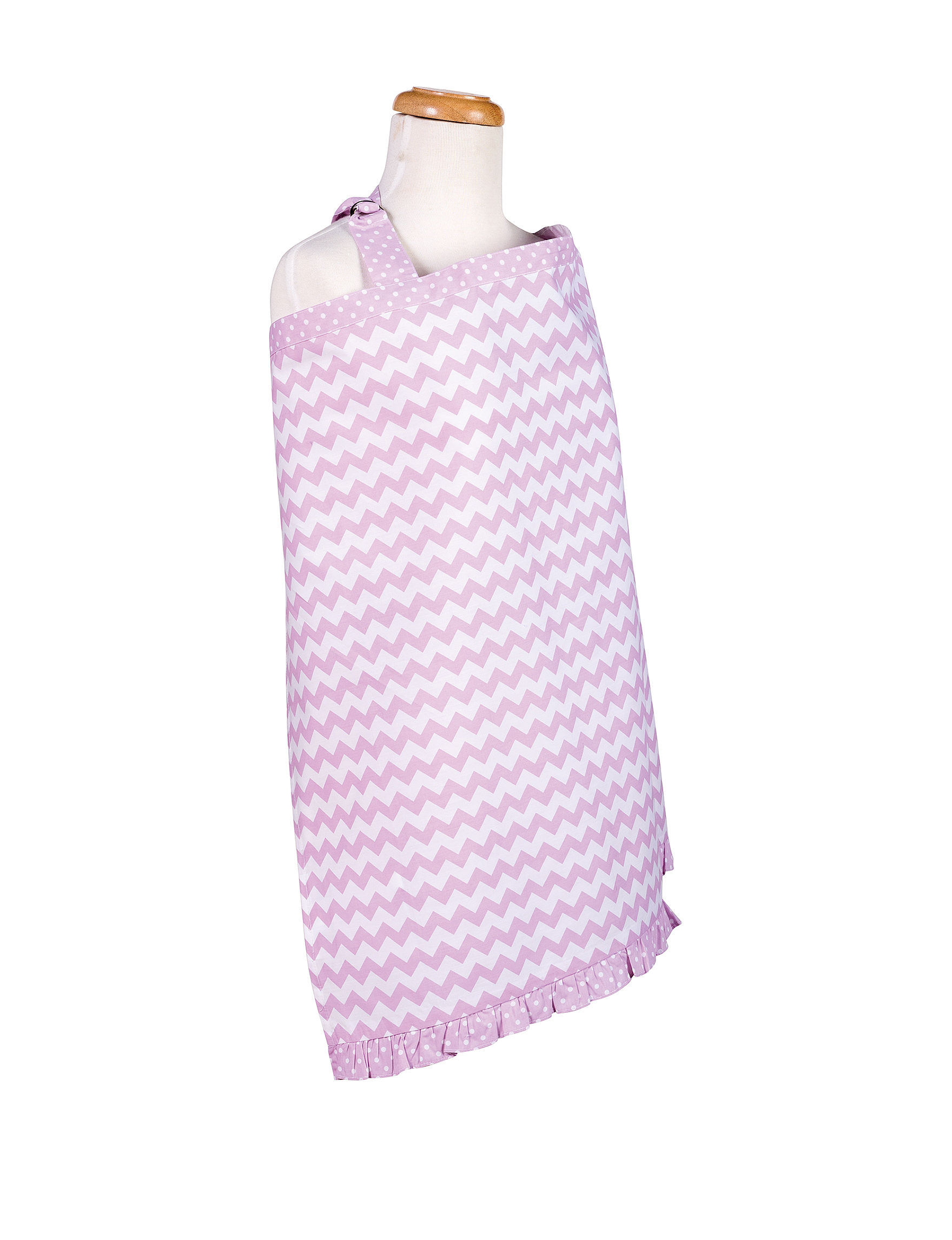 Trend Lab Purple / White Bibs & Burp Cloths Breastfeeding