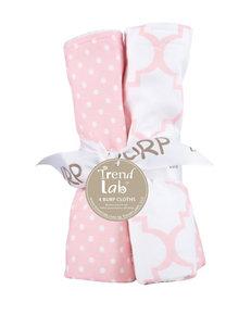 Trend Lab 4-pk. Pink Sky Burp Cloth Set