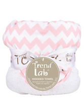Trend Lab Pink Sky Chevron Hooded Towel