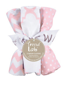 Trend Lab Pink / White Towels