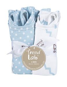 Trend Lab 4-pk. Blue Sky Bib Set