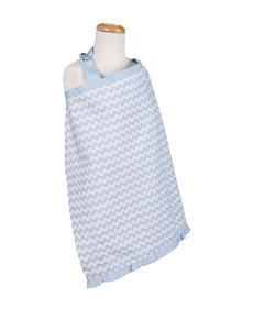 Trend Lab Blue / White Bibs & Burp Cloths Breastfeeding