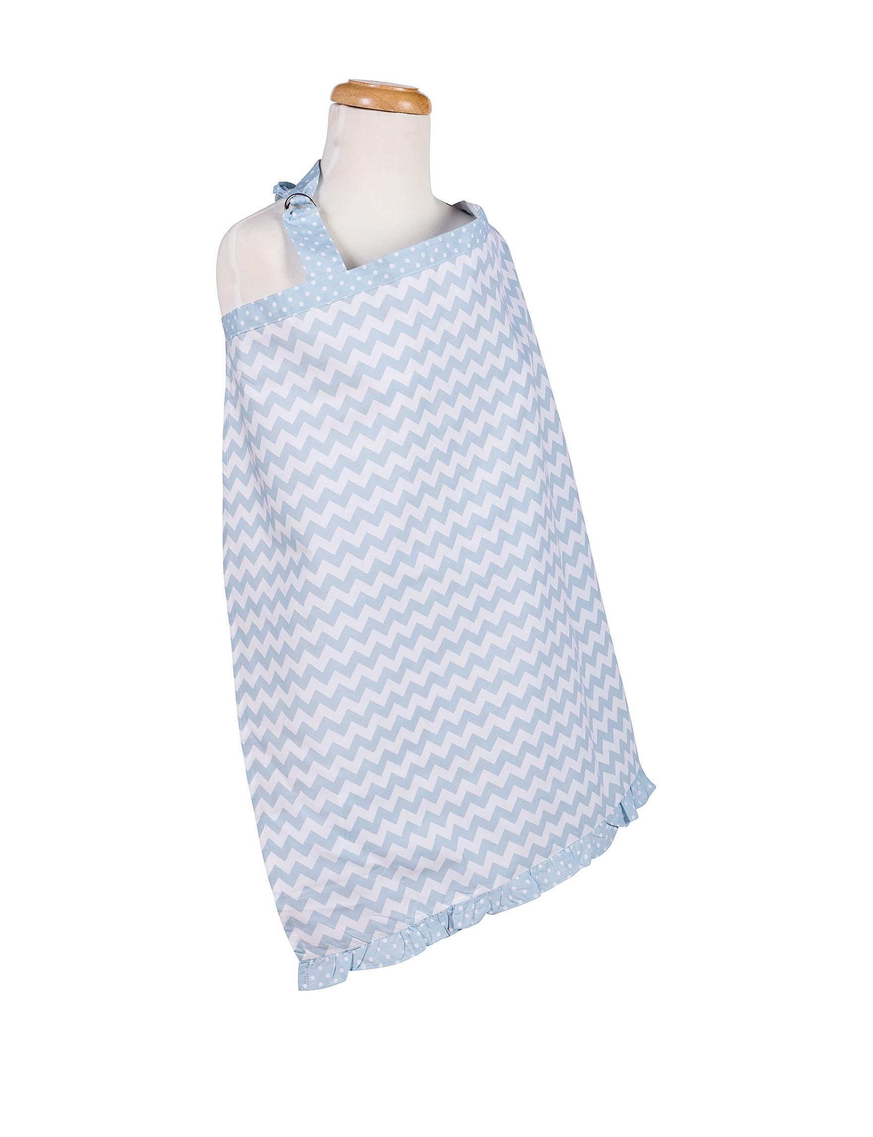 Trend Lab Blue / White Breastfeeding