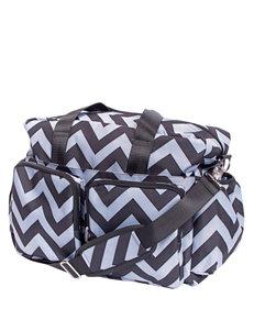 Trend Lab Black & Gray Chevron Deluxe Diaper Duffle Bag