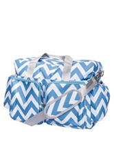 Trend Lab Blue & White Chevron Deluxe Diaper Duffle Bag