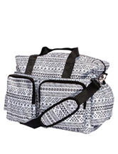 Trend Lab Black & White Aztec Deluxe Diaper Duffle Bag