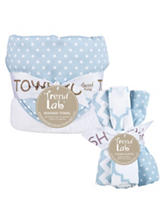 Trend Lab 6-pc. Blue Sky Dot Hooded Towel & Wash Cloth Set
