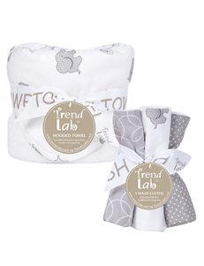 Trend Lab 6-pc. Gray Safari Hooded Towel & Wash Cloth Set