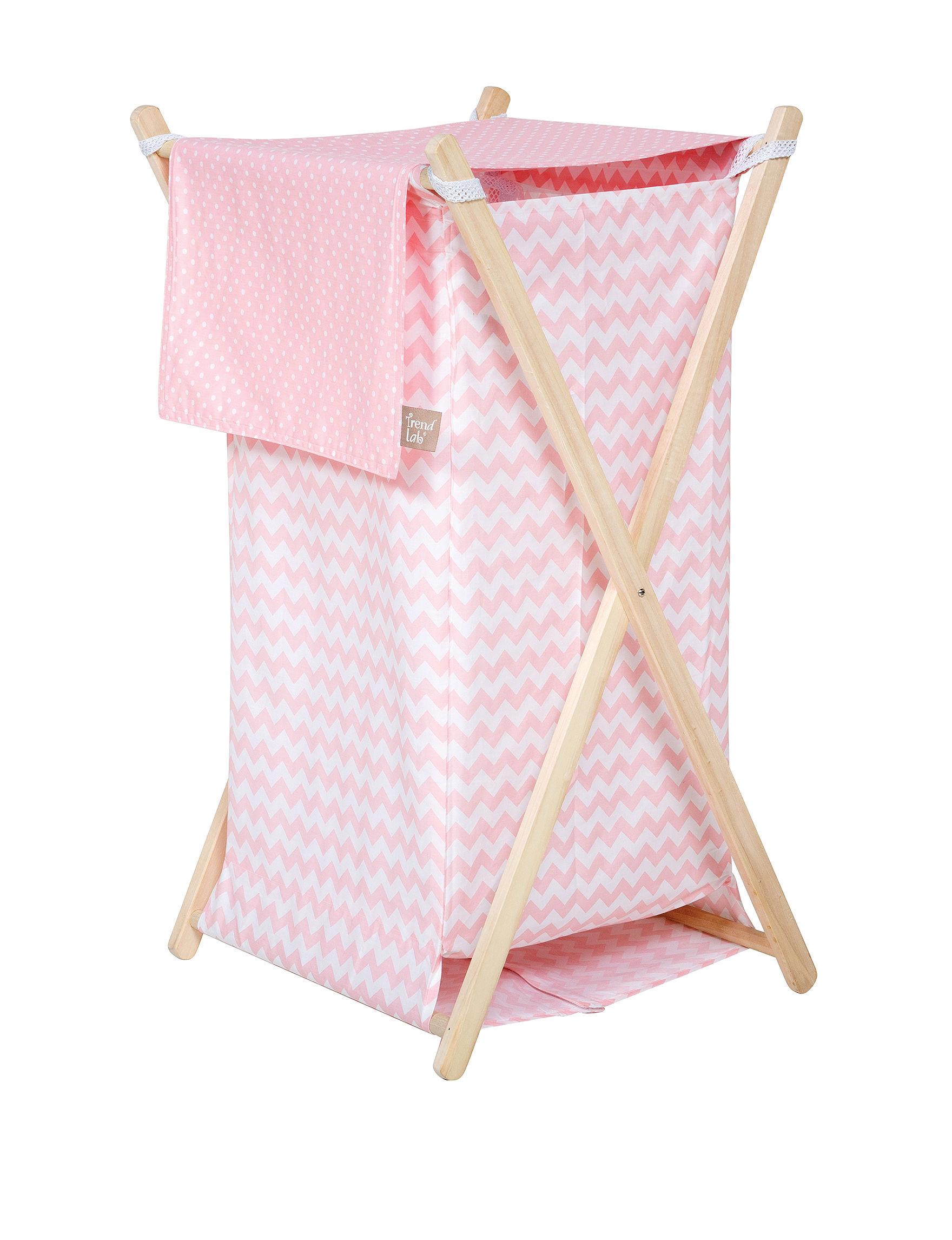 Trend Lab Pink / White
