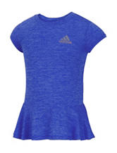 adidas® Heathered Peplum Top – Toddlers & Girls 4-6x