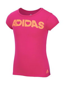 adidas® Neon Pink Split Back Top – Toddlers & Girls 4-6x