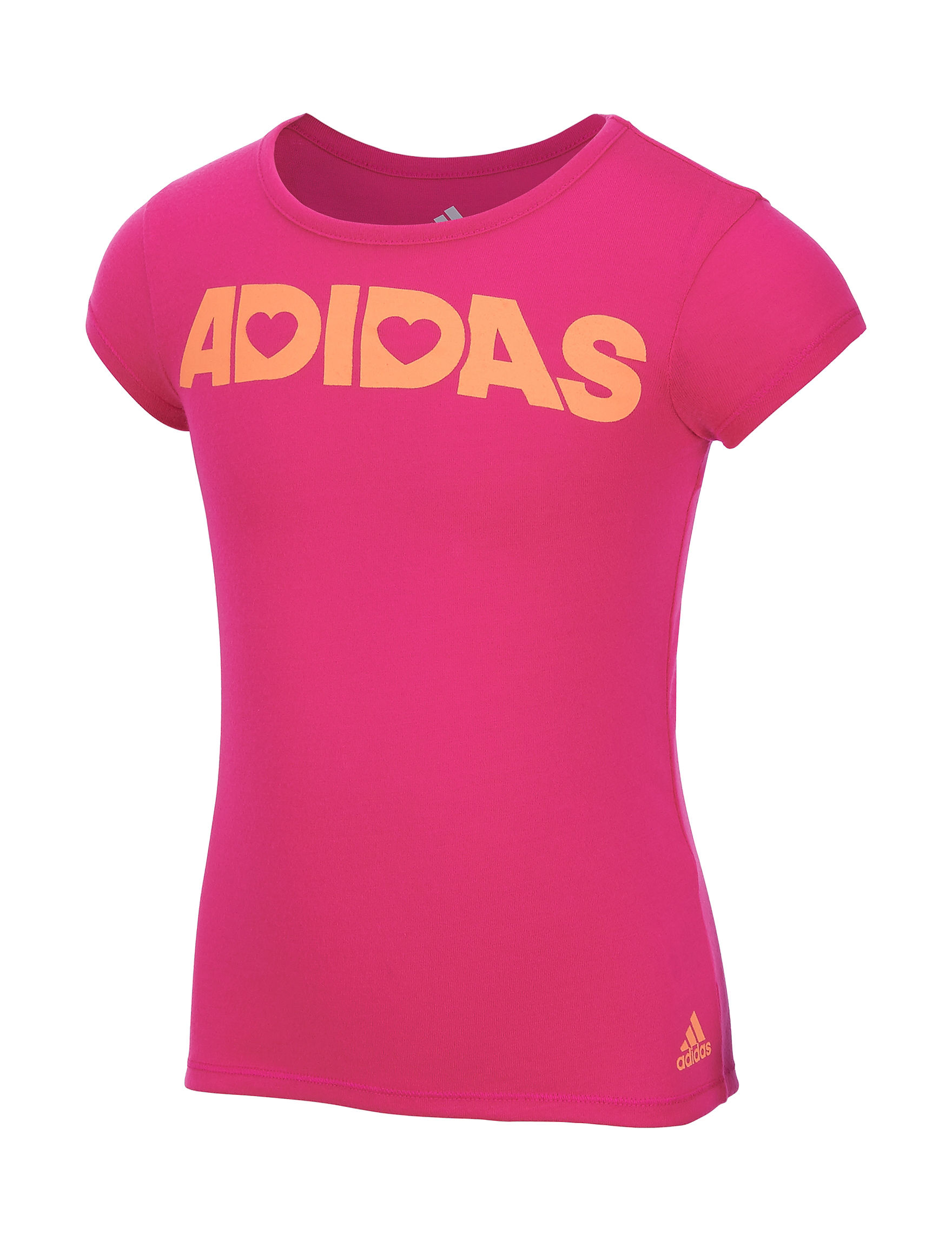 Adidas Medium Pink Tees & Tanks