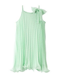 Pinky Accordion Pleated Pin Dot Dress – Girls 12-20