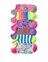 Capelli 6-pk. Girls Rule Doodle No-Show Socks – Girls