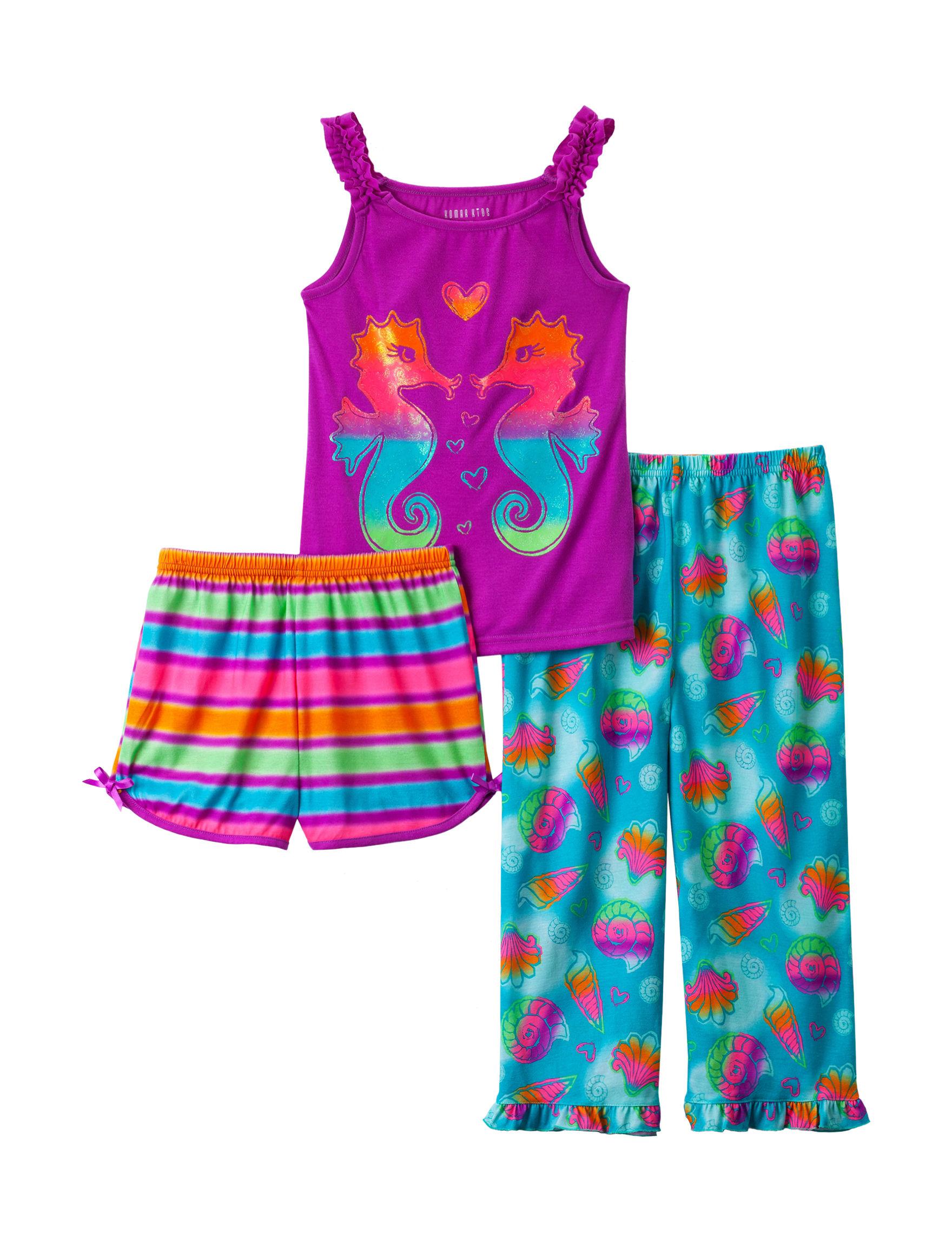 Komar Purple Multi Pajama Sets