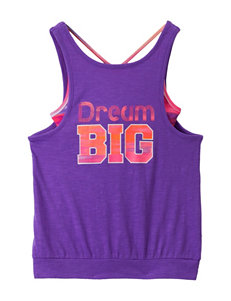 Wishful Park Electric Purple Layered-Look Top – Girls 7-16