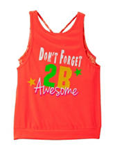 Wishful Park Fiery Coral Layered-Look Top – Girls 7-16