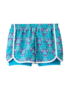 Wishful Park Chroma Blue Tie-Dye Triangles Shorts – Girls 7-16