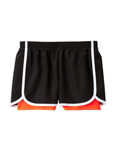 Wishful Park Black & Fiery Coral Layered-Look Shorts – Girls 7-16