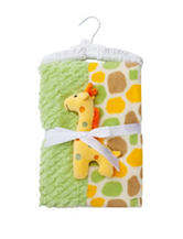 Cutie Pie Yellow & Green Giraffe Patchwork Blanket
