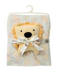 Cutie Pie Plush Blanket With Lion Plush Toy