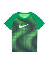Nike® Voltage Green & Black Engineered Dri-FIT T-shirt – Toddler Boys