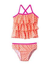 Carter's® 2-pc. Coral Heart Print Tankini Swim Set – Girls 4-6x