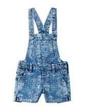 Squeeze Bandana Print Denim Shortalls – Girls 4-6x