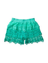 My Michelle Ombre Tiered Ruffle Crochet Shorts – Girls 7-16