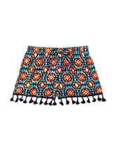 My Michelle Neon Multicolored Aztec Fringed Shorts – Girls 7-16