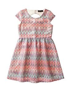 Jessica Simpson Amalia Sequin Hacci Dress – Girls 7-16