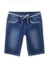 Squeeze Dark Stone Daisy Embroidered Bermuda Shorts – Girls 7-16