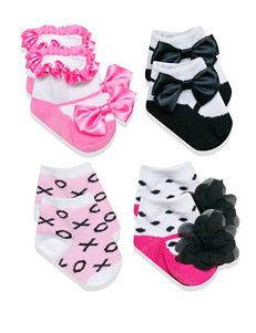 Baby Essentials 4-pk. Pink Bow Socks – Baby