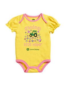 John Deere Yellow Grandma's Helper Bodysuit – Baby 3-12 Mos.