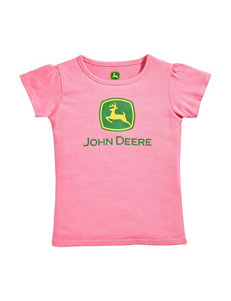 John Deere Medium Pink Tees & Tanks