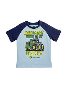 John Deere Light Blue Tees & Tanks